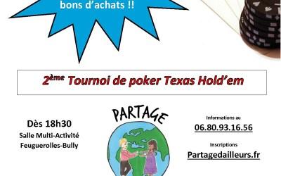 2ème Tournoi de Texas Hold'em Partage d'Ailleurs