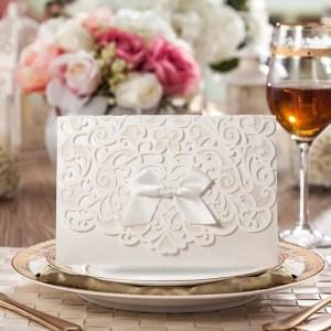 partecipazioni nozze laser bianche a libro
