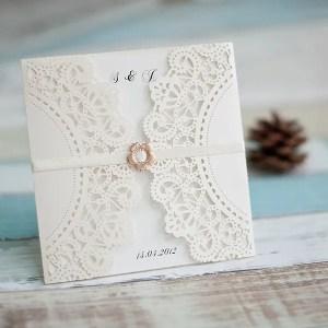 partecipazioni matrimonio laser bianche con nastro bianco