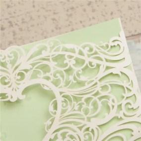 5.1_Partecipazione LAser con disegno a cuore e astratto ed intreno verde-particolare