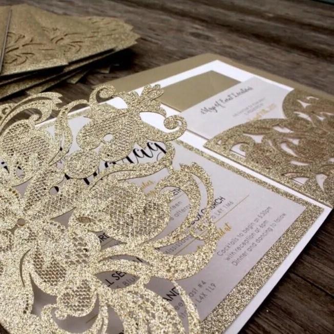 Partecipazioni Matrimonio Glitter.Partecipazione Wpfc2126g Da 4 50 Partecipazioni Matrimonio Laser