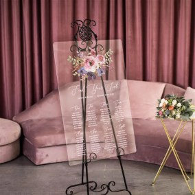 Cartelli Plexiglass tableau de mariage YK030_2