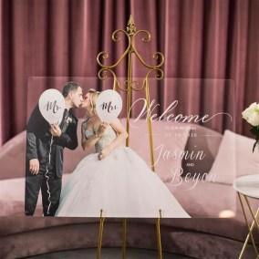 Cartelli Plexiglass tableau de mariage YK031