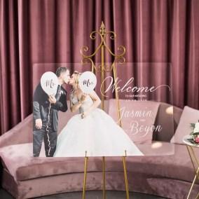 Cartelli Plexiglass tableau de mariage YK031_1