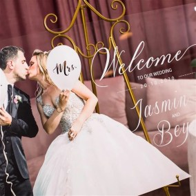 Cartelli Plexiglass tableau de mariage YK031_3