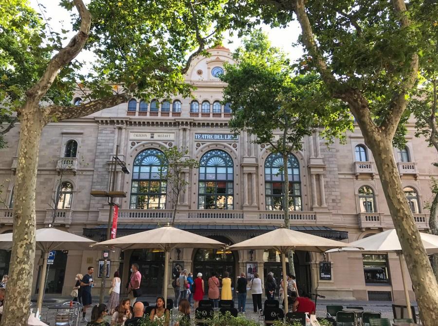 Teatro de Liceu  La Rambla - Barcelona, Spagna