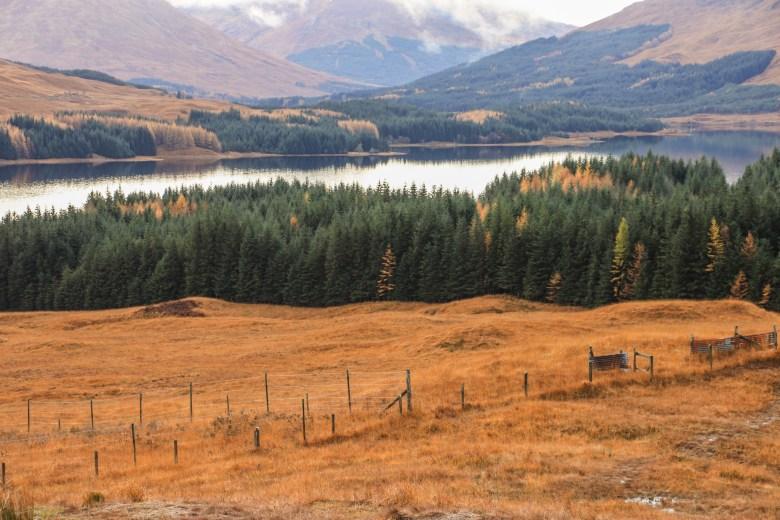 Foto delle vallate delle Highlands, Scozia