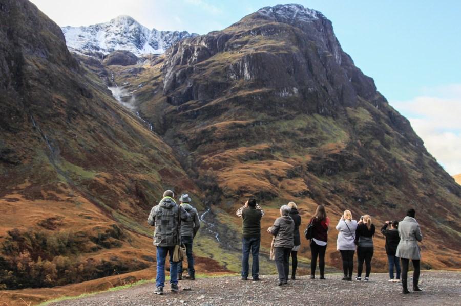 Fermata fotografica durante il tour delle Highlands