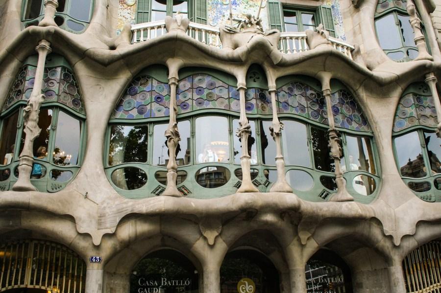 Facciata di Casa Batllò - Barcellona, Spagna