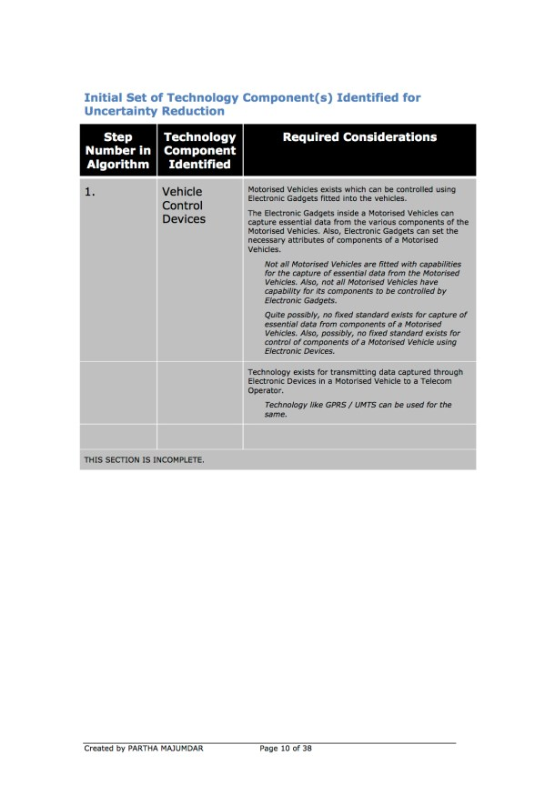 Preventing and or Reducing Road Accidents - Technology + Market + Implementation - Iteration 1 - 20131104 - Page 10