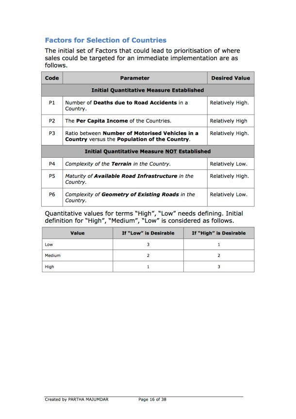 Preventing and or Reducing Road Accidents - Technology + Market + Implementation - Iteration 1 - 20131104 - Page 16