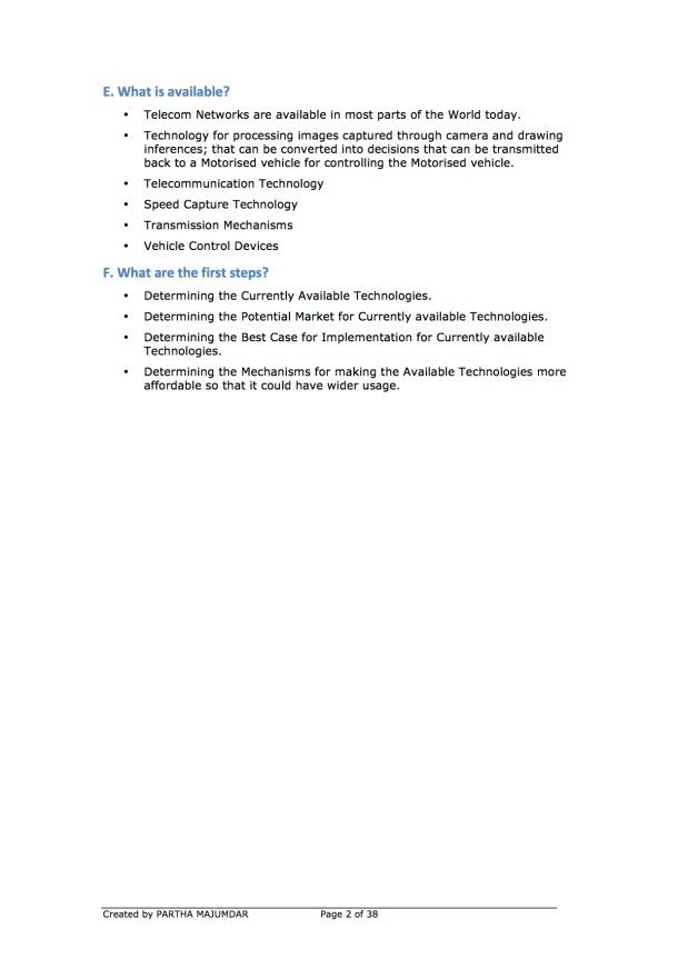 Preventing and or Reducing Road Accidents - Technology + Market + Implementation - Iteration 1 - 20131104 - Page 2