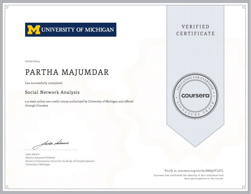 My Experience With Coursera Experiences Of Partha Majumdar
