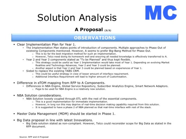 RFP Response Analysis - Experiences of Partha Majumdar