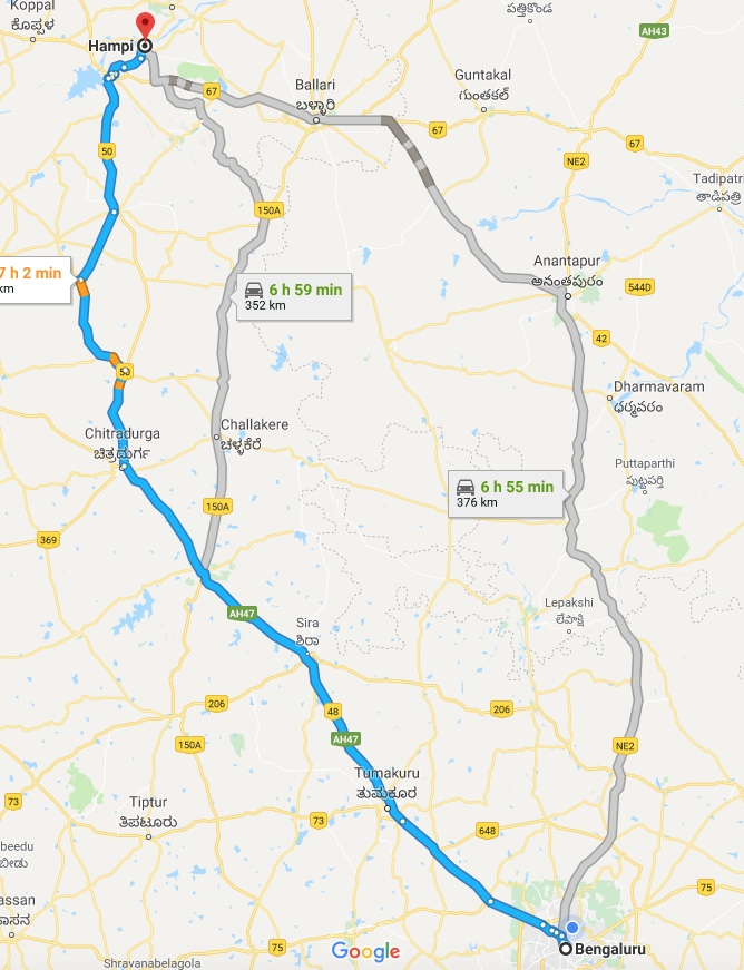 Bangalore To Hampi by Road