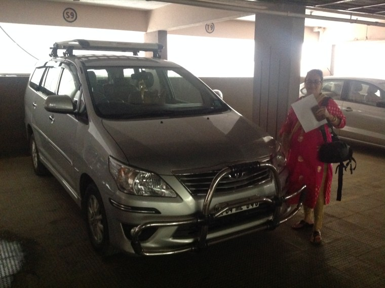 Our Innova in the garage