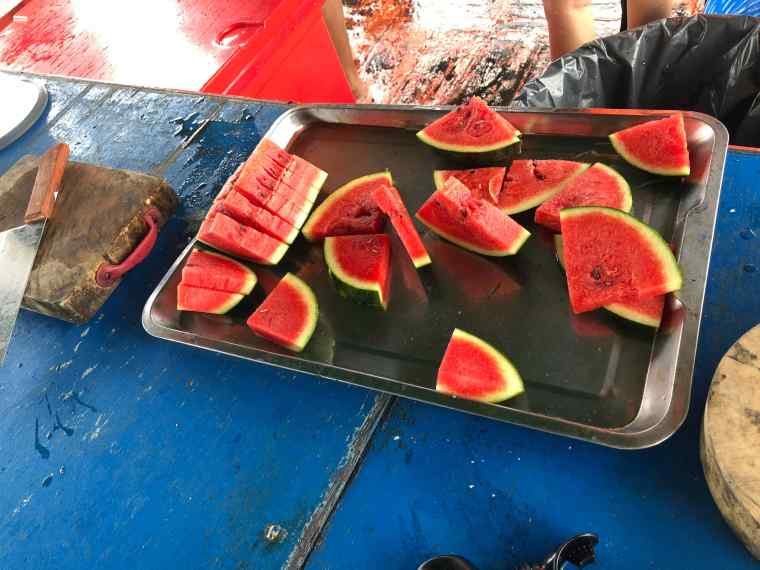 Watermelons served by the Tour Company