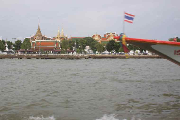 Grand Palace from Chao Phraya