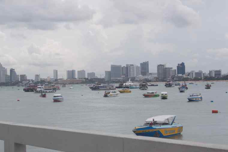 Boats around the Pattaya Pier