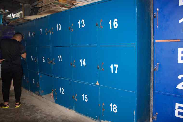 Lockers at TN Seafood Restaurant