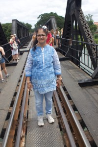 In the center of the Bridge on River Kwai