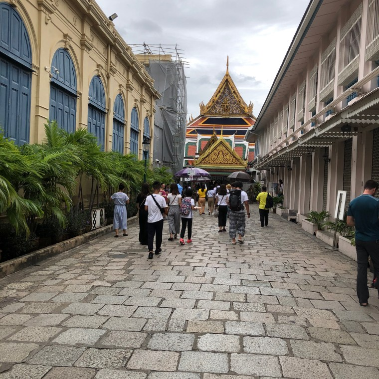 Alley leading to the Entrance of the Temple of Emerald Buddha