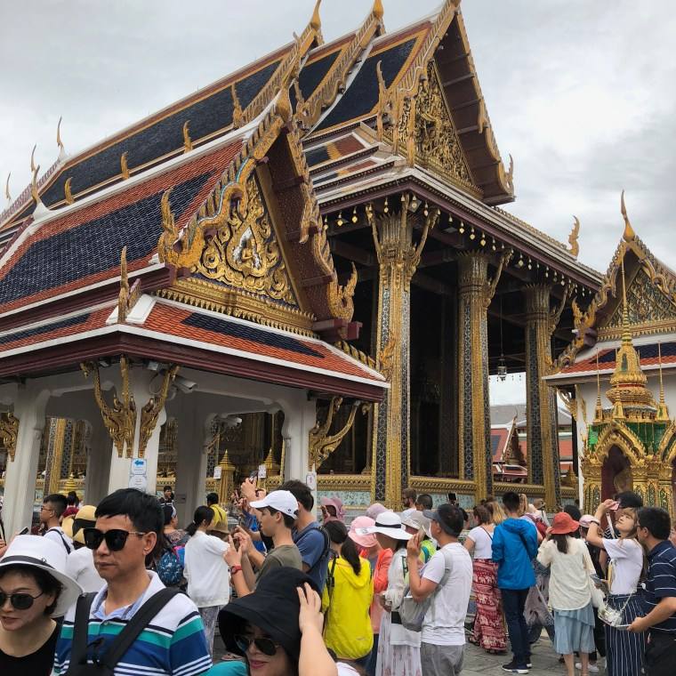 Structures inside the Temple of Emerald Buddha