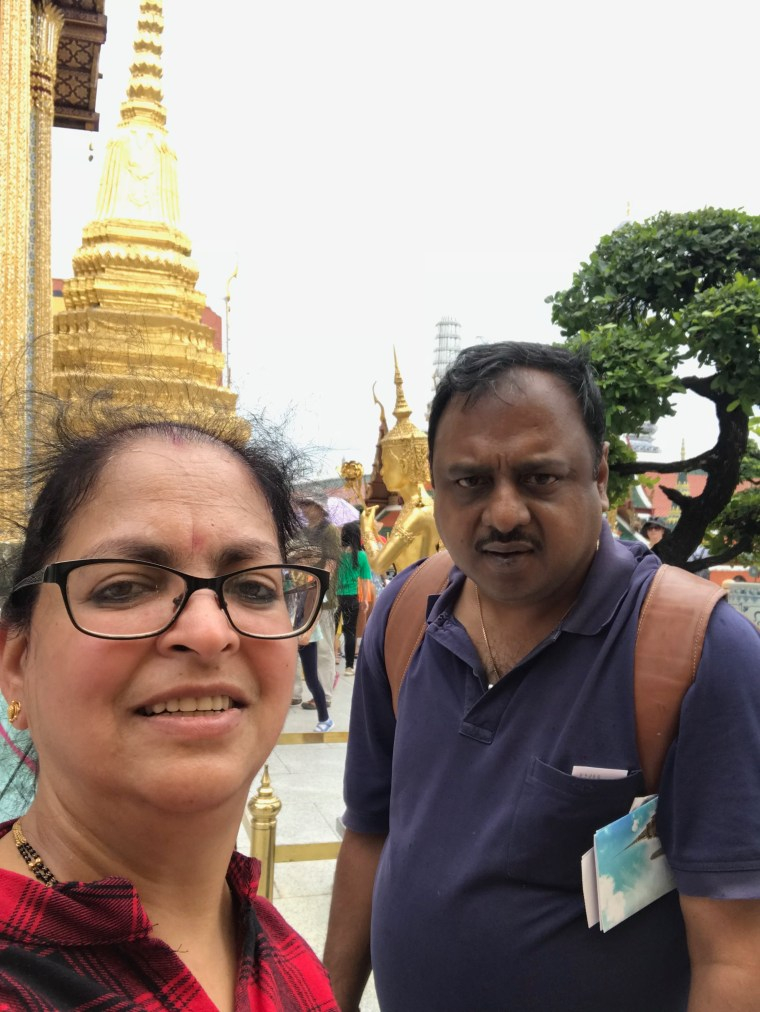 Selfie inside the Temple of Emerald Buddha
