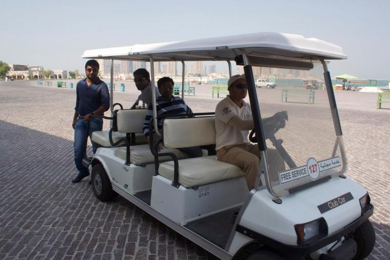 Transport on the Katara Beach