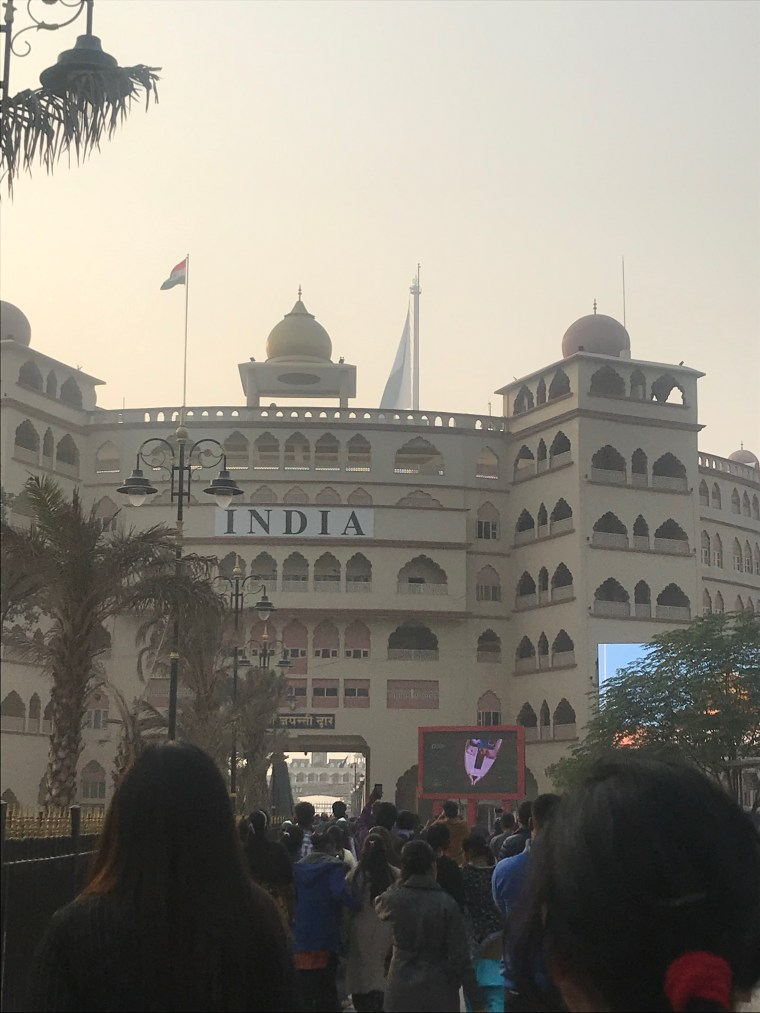 Stadium from the outside on the Indian Side