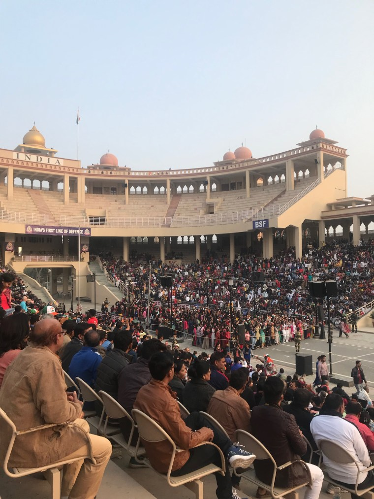 A view of the crowd on the Indian Side