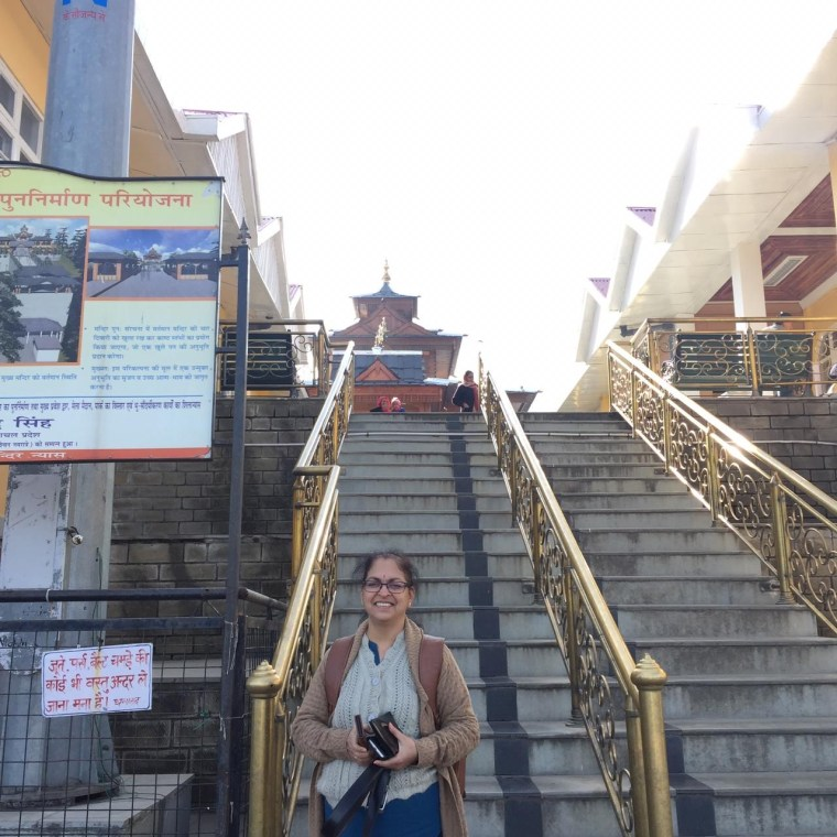 We had to climb a number of steps to reach this point. At this point, we had to leave our belongings and climb up to the Temple.