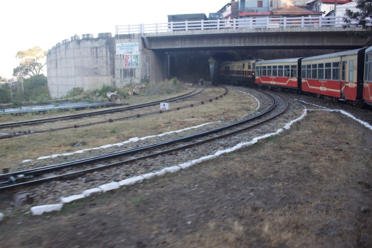 Shivalik Express entering a tunnel