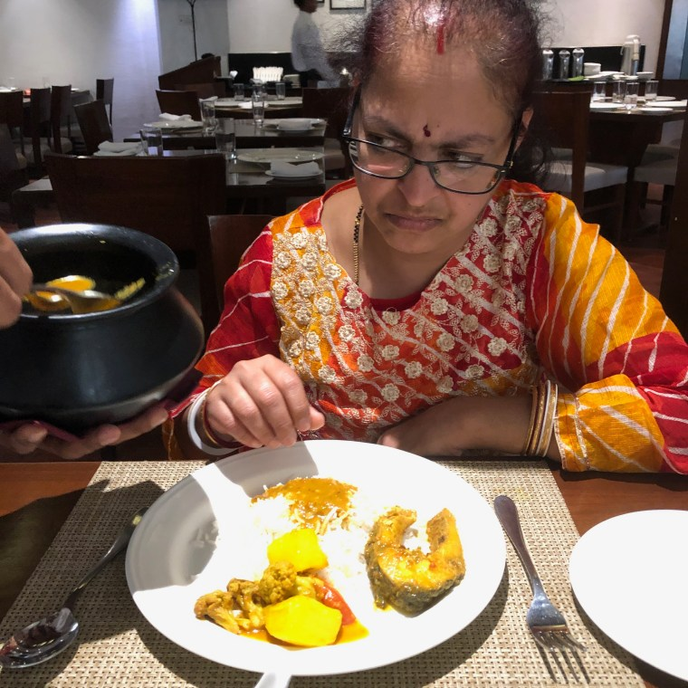 Deepshree's Lunch served on her plate