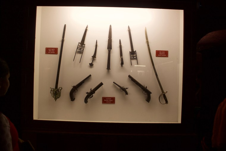 Weapons from the Tipu Sultan era
