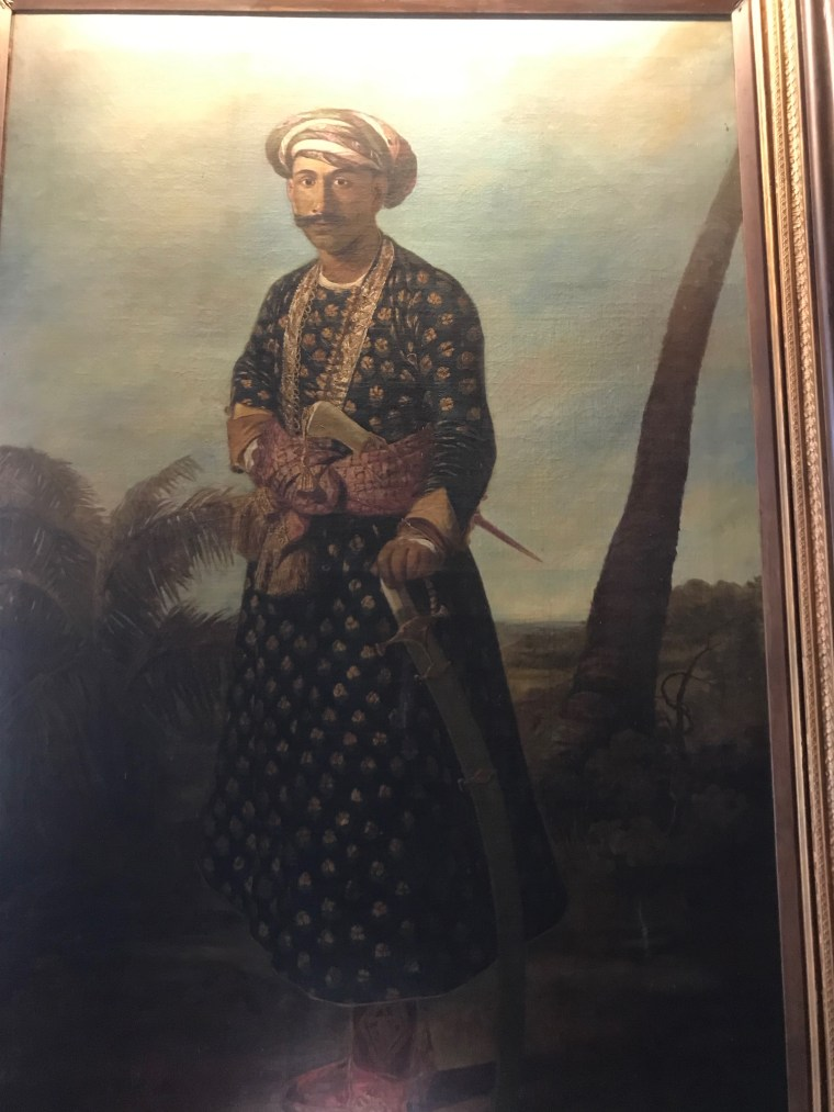 Painting inside the Tipu Sultan Summer Palace
