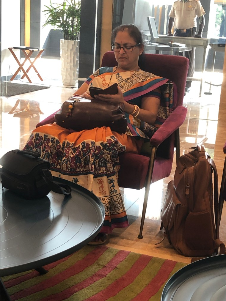Deepshree waiting in the Lobby