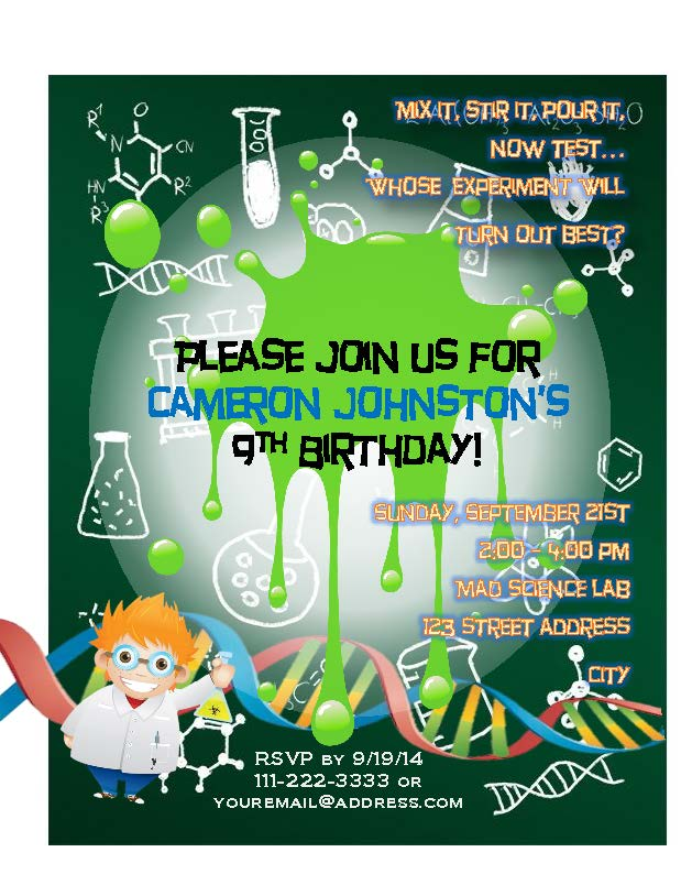 mad science birthday party partial to