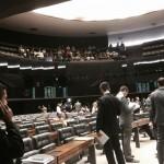 Ativistas marcam presença durante a votação do Marco Civil da Internet