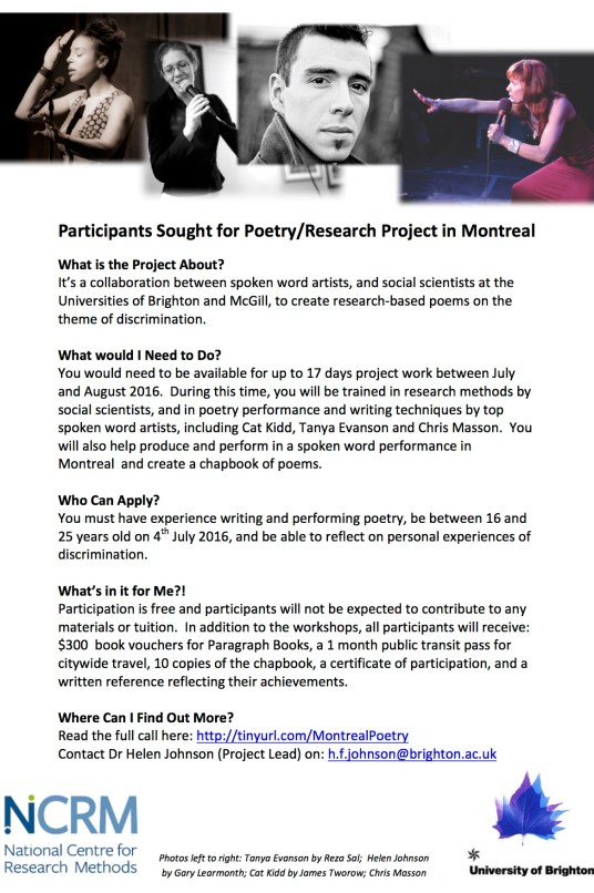Call for Participants - flyer