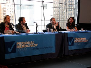 "Jerry Nadler joins Esther Dyson, Jamie Heywood and Susannah Fox to talk about ""From Participatory Politics to Participatory Medicine"" at Personal Democracy Forum 2009"