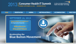 Screen grab of ONC consumer kickoff website