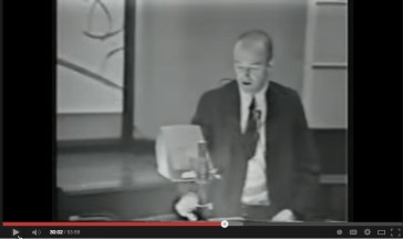 Screen capture of Larry Weed delivering 1971 Grand Rounds