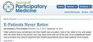 Screen capture of article headline
