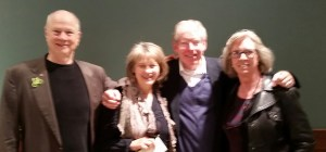 Group photo of Peter Frishauf, Sarah Greene, e-Patient Dave, Jeanne Pinder