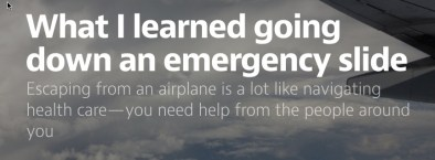 Screen capture of emergency slide post