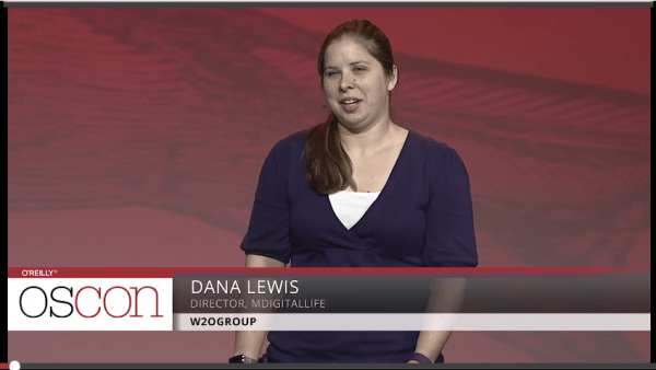 Dana Lewis on stage at O'Reilly
