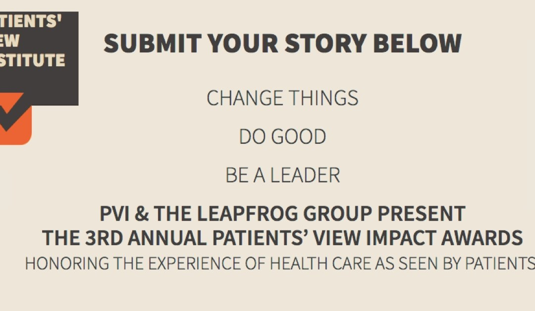 How to participate in the 2017 Patients' View Impact Awards #PVImpact17