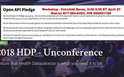 """Join the VA's """"Open API Pledge"""" session at Health Datapalooza"""