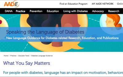 For Diabetes Month, be conscious that language matters.